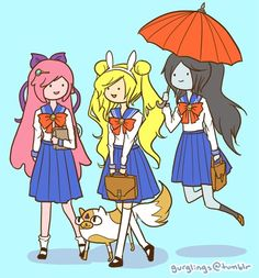 Adventure Time and Sailor Moon!