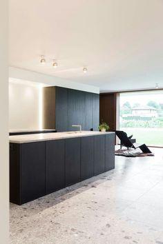 Kitchen Dinning Room, New Kitchen, Apartment Interior, Kitchen Interior, Contemporary Kitchen Design, Minimalist Kitchen, Cuisines Design, Beautiful Kitchens, Home Kitchens