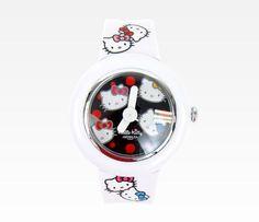 Hello Kitty White Wristwatch: Face
