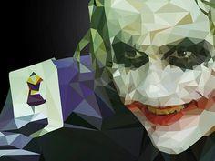 Joker -Low poly illustration