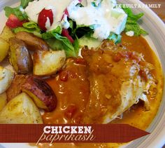 Chicken Paprikash - Making this tomorrow night for supper with local Amish egg noodles. Chicken Paprikash, Peanut Butter Chips, Hungarian Recipes, Dinner Is Served, Slow Cooker Chicken, Yummy Drinks, Soups And Stews, Crockpot Recipes, Delish