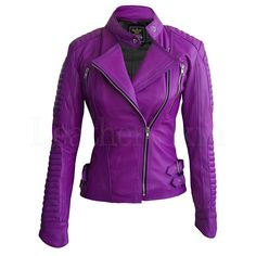 Tired of wearing black leather jackets? Add an exciting flair to your traditional western outfit with this purple leather jacket from Leather Skin shop. Purple Leather Jacket, Studded Leather Jacket, Purple Jacket, Black Leather, Black Metal, Real Leather, Napa Leather, Colorful Leather Jacket, Look Plus Size