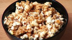 Caramel Nut Popcorn is a devilishly addictive snack, perfect for parties or movie nights. Freshly popped popcorn is coated in a delicious, nutty caramel. Sti...