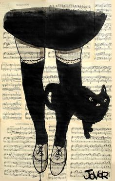 """Saatchi Online Artist: Loui Jover; Pen and Ink, 2013, Drawing """"this be cat"""""""