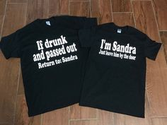 Matching couple shirts drinking shirts funny couple drunk shirts leave him by the door if drunk - Funny Drinking Shirts - Ideas of Funny Drinking Shirts - Matching couple shirts drinking shirts funny couple drunk shirts leave him by the door if drunk Matching Couple Outfits, Matching Couples, Funny Drinking Shirts, Funny Shirts, Couple Shirt Design, Aunt Quotes, Couple Tshirts, Private Parts, Funny Couples