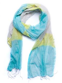 FashionABLE spring Frehiwot Scarf in blue and yellow