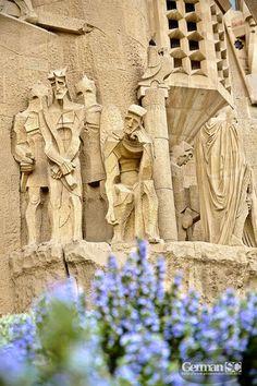 Detall façana Sagrada Familia, Barcelona Catalonia