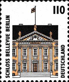 Deutschland 1993 - Sehenswürdigkeiten - Schloss Bellevue in Berlin