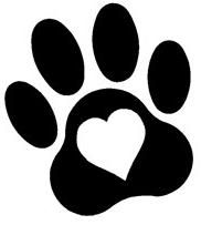 dog paw print clip art royalty free 555 dog paw print clipart rh pinterest com free clipart of dog paw prints dog paw print line art