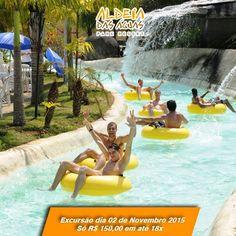 Excursão Aldeia das Águas Park Resort -  Para mais informações acesse: http://riotripturismo.com.br/index.php/excursoes/462-excursao-aldeia-das-aguas-park-resort-com-almoco
