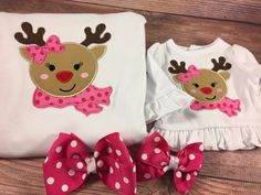 Matching Girl Doll;Girl And Doll;Dollie And Me;Made To Match;Christmas Shirts;Reindeer Shirts;18 inch Doll Clothes;Winter Shirts by AllAboutThemDolls on Etsy