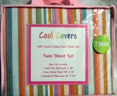 TWIN SHEET SET COOL COVERS COLORFUL STRIPES by COOL COVERS. $29.99. TWIN SHEET SET COOL COVERS COLORFUL STRIPES PINK, GREEN, BLUE, PURPLE Kids Bed Sheets, Twin Sheet Sets, Purple, Pink, Blue, Flat Sheets, Home Kitchens, Bedding, Stripes
