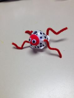 Spider-Need pipe cleaners, eyes, egg carton puff balls.