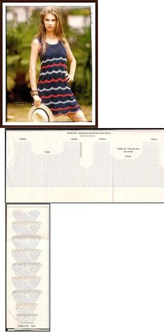 easy crochet dress!! I love its simple shape and crochet stitches!