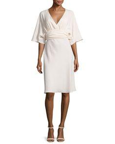 TCZZX ba&sh Miranda Belted Kimono Dress, Nude