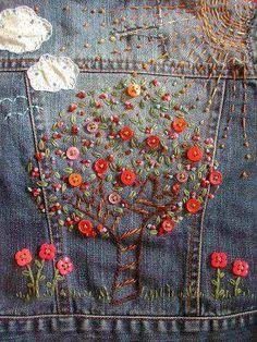 Hand Embroidery @ hodgepodgefarm.com