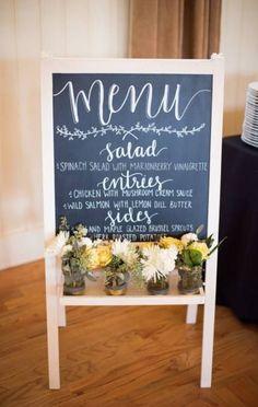 53 ideas birthday party food menu chalk board for 2019 Wedding Menu Chalkboard, Diy Wedding Menu, Bridal Shower Chalkboard, Chalkboard Easel, Wedding Dinner Menu, Wedding Signage, Wedding Catering, Table Wedding, Catering Menu