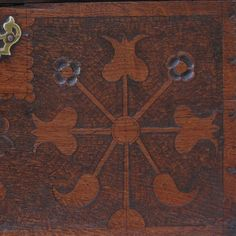 A rare c. GowerA rare c. Gower Coffor Bach Coffor Bach with carved decoration, and the initial PR Welsh, Folk Art, Initials, Arts And Crafts, Carving, Rugs, Detail, Decor, Decoration