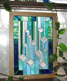 stained glass hanging falling water by artizen2 on Etsy, $350.00