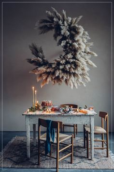 Zara Home Just Launched the Moody Holiday Editorial of Our Dreams fashion editorial inspiration Zara Home New Holiday Editorial Collection Decor Tips Design Set, Floral Design, Deco Floral, Arte Floral, Lustre Floral, Turbulence Deco, Flower Installation, Art N Craft, Pampas Grass