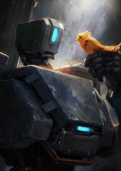 joelpigou:  Bastion from Overwatch!   Twitter - DeviantArt - Twitch