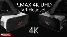 PIMAX 4K UHD Virtual Reality 3D Headset for PC - WITH EARPHONES【Coupon: ...
