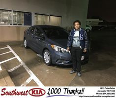 https://flic.kr/p/EoEyj7 | Happy Anniversary to Felecity on your #Kia #Forte from Clinton Miller at Southwest Kia Mesquite! | deliverymaxx.com/DealerReviews.aspx?DealerCode=VNDX