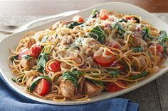 Toss colorful fresh veggies with whole wheat pasta, pork tenderloin and cheese to make this Healthy Living dish. Kraft Foods, Kraft Recipes, Pork Recipes, Pasta Recipes, Dinner Recipes, Cooking Recipes, Healthy Recipes, What's Cooking, Recipies