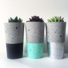 Urban Decor concrete succulent planters, Tealights candle holders, stools & bowls available at www.nothingbutvintage.com.au