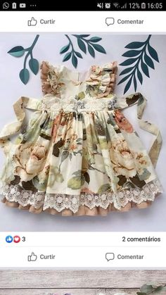 Girls Dresses Sewing, Frocks For Girls, Kids Frocks, Little Girl Dresses, Baby Girl Dress Design, Dress For Girl Child, Toddler Dress, Baby Dress, Cute Little Girls Outfits