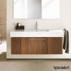 Duravit 15-inch American Walnut Fogo Vanity | Overstock.com Shopping - The Best Deals on Bathroom Vanities