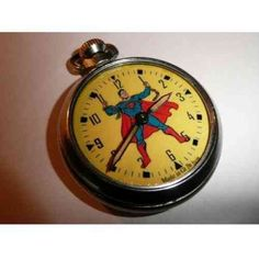 Old Vintage Superman Character dial pocket watch Superman Characters, Cool Cartoons, Cartoon Fun, My Superhero, Take My Money, Man Of Steel, Comic Character, Children's Watches, Pocket Watches