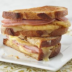 Hawaiian Grilled Cheese Sandwich with Spicy Honey Mustard More