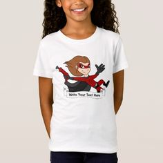 Custom superhero girl cartoon T-Shirt
