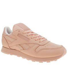 womens reebok pale pink classic leather spirit trainers a3466819c