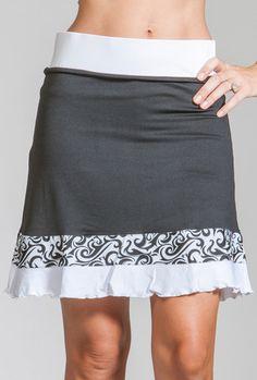 Jackie Skort Black / Black Fire Jackie Skort Black / Black Ice Zig Zag #golf #apparel #sportsapparel #fashion #golfapparel #golffashion #golfskort #skort #skirt #golfskirt