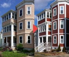 This is a fiber cement siding installation done in Somerville, MA by @FrancaServices Contact us today to get your free, no-obligation, quote for your house siding project. We offer free consultations to all potential clients in and around Boston, MA. Cement Board Siding, Concrete Siding, Fiber Cement Board, Fiber Cement Siding, Siding Installation, Somerville Ma, James Hardie, House Siding, Boston