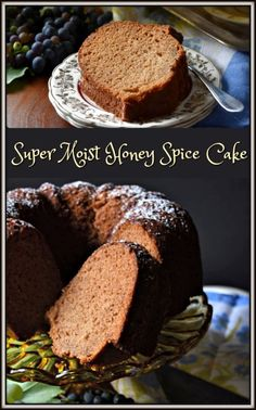 This Super Moist Honey Spice Cake Recipe fills your whole kitchen with a sweet aroma -you will definitely want to make it again and again. Spice Cake Recipes, Best Dessert Recipes, Cupcake Recipes, Easy Desserts, Cookie Recipes, Dessert Simple, Cupcakes, Cupcake Cakes, Bunt Cakes