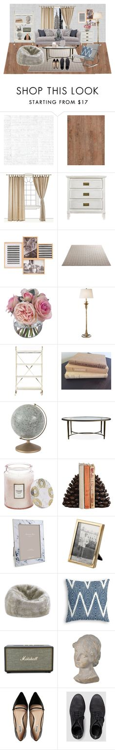 """""""living room"""" by abbeyc99 ❤ liked on Polyvore featuring interior, interiors, interior design, home, home decor, interior decorating, Osborne & Little, Stanley Furniture, Diane James and AERIN"""