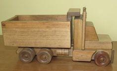 handmade wood dump truck toy wooden trucks toys Amish construction working maple hardwood heirloom daycare playschool homeschool Waldorf hands unplug children