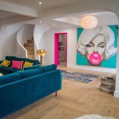 Living Room Designs, Living Room Decor, Bedroom Decor, Painting Door Frames, Painting Trim, Interior Inspiration, Room Inspiration, Colourful Living Room, Bright Living Rooms