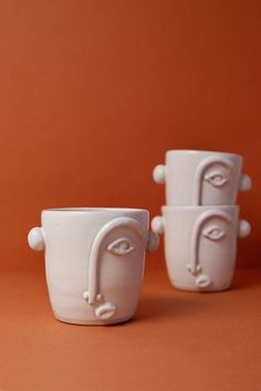 mug art diameter Capacity: Material: Stoneware Glaze:Matte Dishwasher, microwave and oven safe Process: These pieces are hand-thrown on the thro Clay Cup, Clay Pots, Slab Pottery, Ceramic Pottery, Diy Clay, Clay Crafts, Ceramic Bowls, Ceramic Art, Handmade Pottery