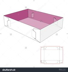 Retail Tray Box With Blueprint Template Stock Vector Illustration 447783829 : Shutterstock