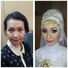 Hijab make up wedding  by me
