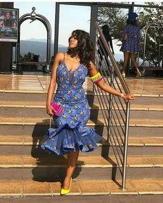 Top lace shweshwe dresses for a walk with their companions African Fashion Ankara, Latest African Fashion Dresses, African Dresses For Women, African Print Dresses, African Print Fashion, African Attire, African Prints, African Style, African Fabric