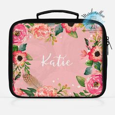 Christmas Gift Lunch Box Insulated Bag Monogram Personalized Custom Kid Monogrammed