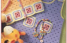 Layettes bébés et leurs grilles gratuites , au crochet !