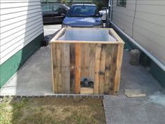 Page 1 of 3 - rum rums hillbilly hot tub - posted in Other Projects: So as per the title ive been building a hillbilly hot tub out of a 1000l ibc tank and pallet wood Im pretty stoked on how it has turned out as i am no carpenter, bare with me as i figure out posting pics etc Gefe