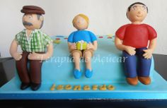 Boy, Father & Grandfather's Cake