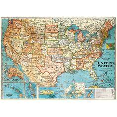 Map printables vintage free